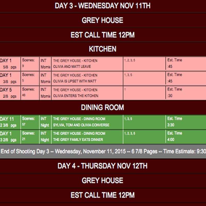10 tips to consider when scheduling your film or tv project