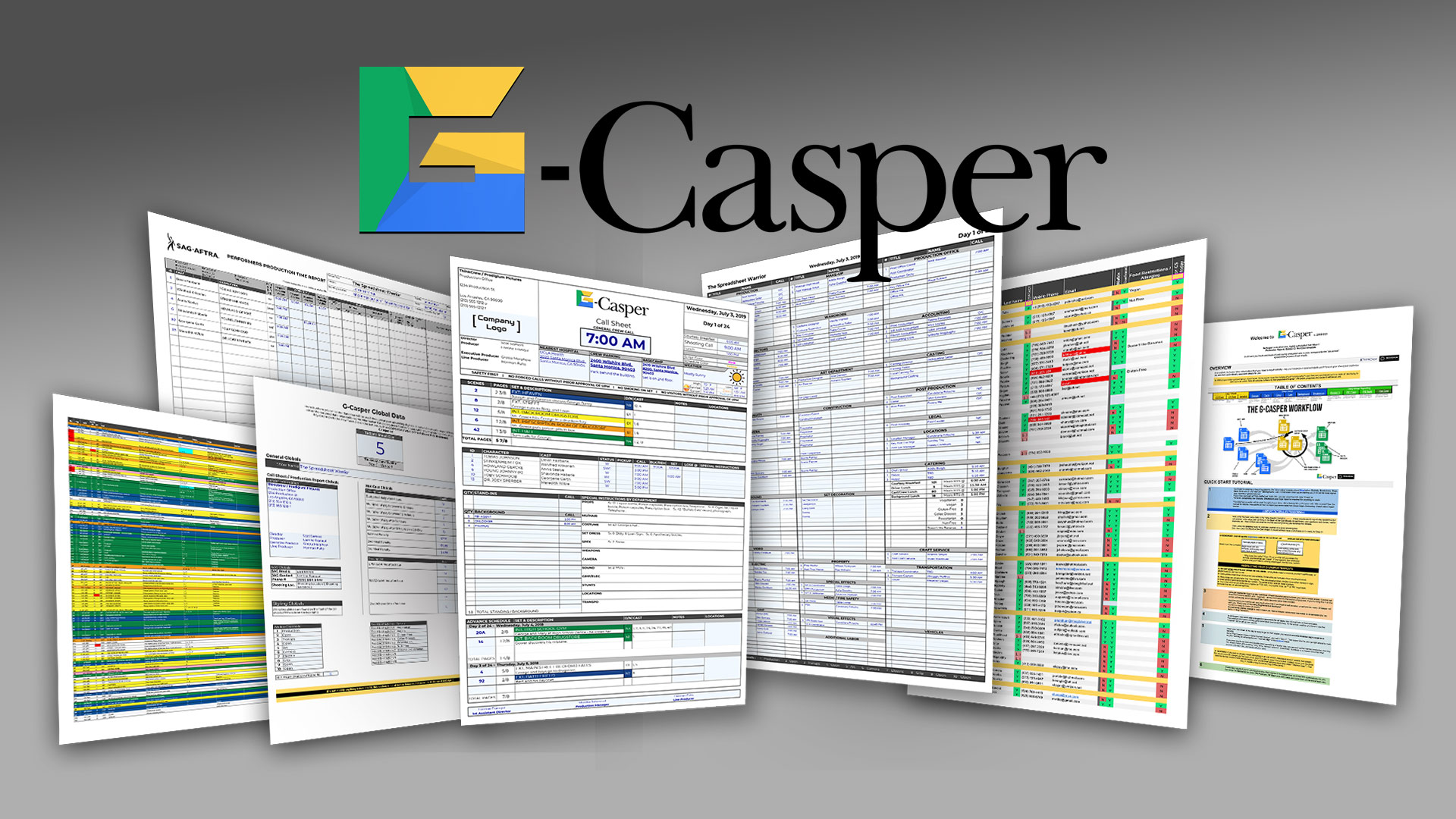 7 reasons to consider the new G-Casper when creating Call Sheets